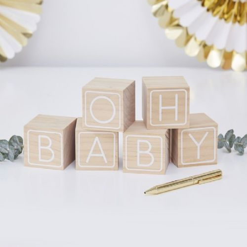 Oh Baby Building Blocks Guest Book (each)
